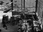 Calder with Mobile in his Roxbury studio