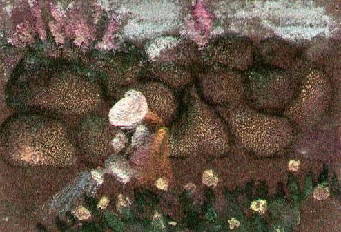 """Галина Шакицкая. Эскиз к мультфильму """"Золушка"""" (1979, режиссер - Иван Аксенчук, художник-постановщик - Галина Шакицкая). Из собрания Фонда анимации ГЦМК ©"""