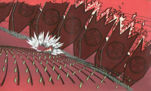 """Сцена из мультфильма """"Слово о хлебе"""" (1971, режиссер - Иван Аксенчук, художник-постановщик - Макс Жеребчевский). Из собрания Фонда анимации ГЦМК ©"""